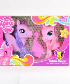 Pony x 2 con accesorios en caja